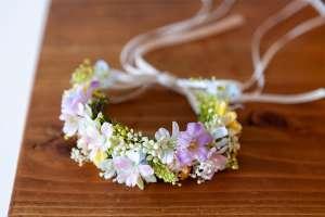 優しい色合いの花冠(猫専用)