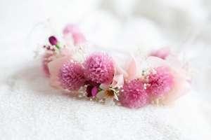 ピンクの花冠(猫専用)