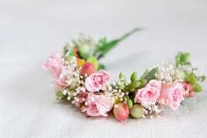 プリザーブドフラワーの花冠(猫用)